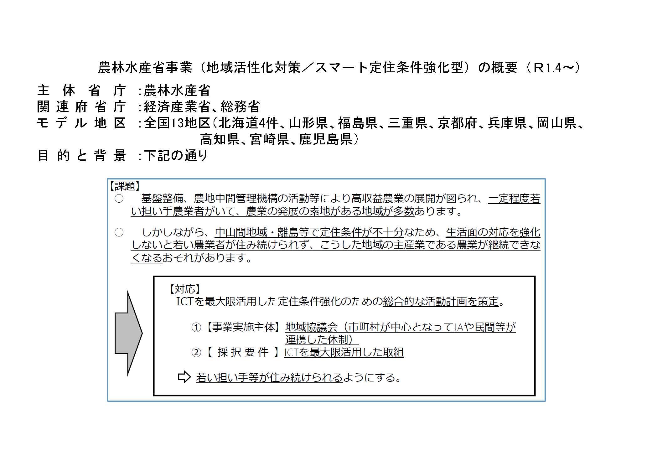 勢和地域に於けるスマート定住条件強化型事業の紹介(その1/8)