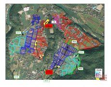 R2シカの動向と電柵設置・食害耕区(黄色)